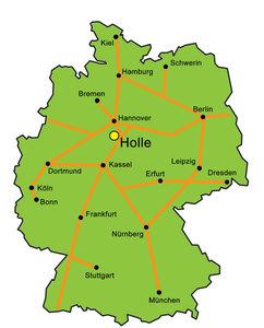 Holle Deutschlandkarte